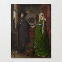 Van Eyck - Arnolfini Portrait Canvas Print