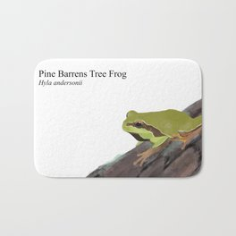 Pine Barrens Tree Frog (Hyla andersonii) on Pitch Pine Log Bath Mat