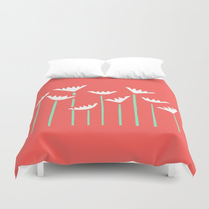 Bright Tropical Collage Duvet Cover