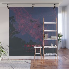 Fremont, United States - Neon Wall Mural