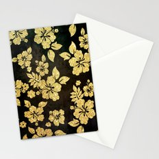 Gold Glitter Flowers - For Iphone Stationery Cards