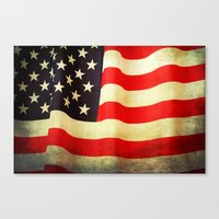 america Canvas Prints featuring America by ThePhotoGuyDarren