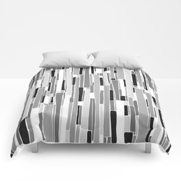 Stacked BW Comforters