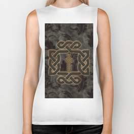 Decorative celtic knot, vintage design Biker Tank