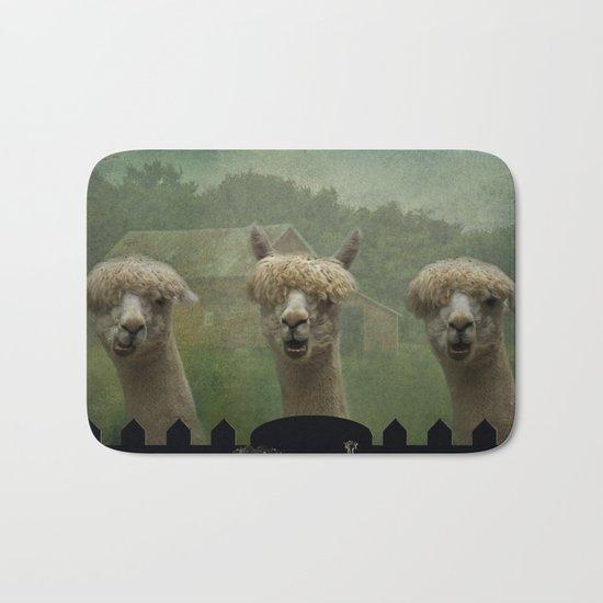 Alpaca Farm Bath Mat