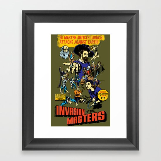 Invasion of the Masters! Framed Art Print