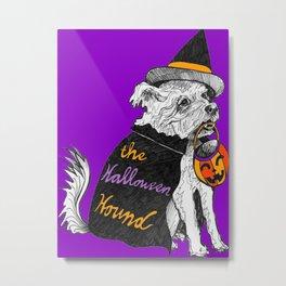 The Halloween Hound- Purple Metal Print