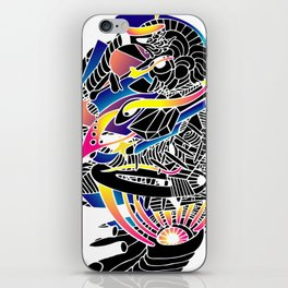 80's abstract micro space iPhone Skin