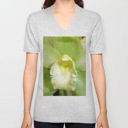 Green Orchid Unisex V-Neck