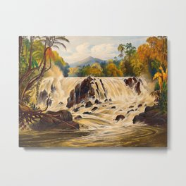 Purumama The River Parima Illustrations Of Guyana South America Natural Scenes Hand Drawn Metal Print
