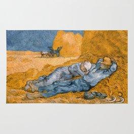 """Vincent van Gogh - Noon Rest From Work (A """"Copy"""" of a Jean-François Millet Work) Rug"""