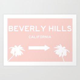Beverly Hills Pink Art Print