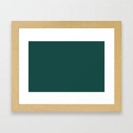 Solid Color Pantone Forest Biome 19-5230 Green Framed Art Print