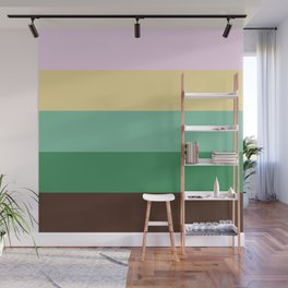 Earth Tones Stripes Wall Mural