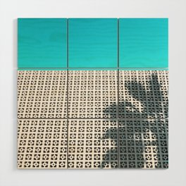 Parker Palm Springs with Palm Tree Shadow Wood Wall Art