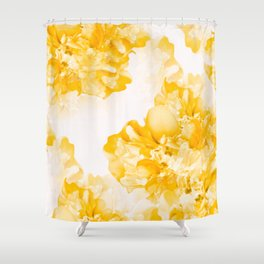 Beautiful Peony Flowers White Background #decor #society6 #buyart Shower Curtain