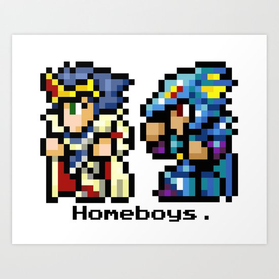 Homeboys (Cecil and Kain) Art Print