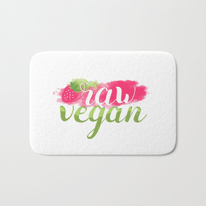 QUOTE Raw Vegan Strawberry Bath Mat