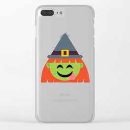 witch tongueout Clear iPhone Case