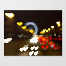 Love Along the Champs Elysees Canvas Print