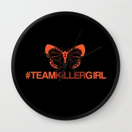Team Killer Girl  Wall Clock