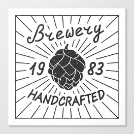 Brewery Handcrafted Fashion Modern Design Print! Beer style Canvas Print