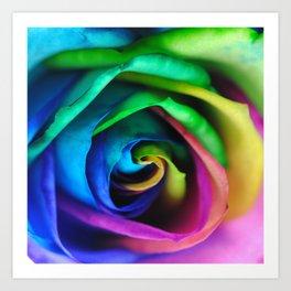Rainbow Rose 17 Art Print