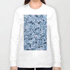 Pebbles Pattern in Blues Long Sleeve T-shirt