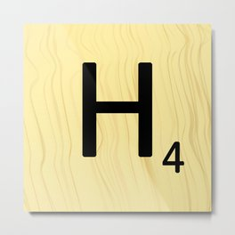 Scrabble H Decor, Scrabble Art, Large Scrabble Prints, Word Art, Accessories, Apparel, Home Decor Metal Print