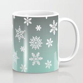 Snow Flurries-Gray/Aqua Ombre Coffee Mug
