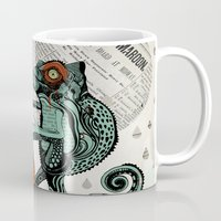 chameleon Mugs featuring CHAMELEON by taniavisual