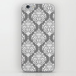 Grey Damask iPhone Skin