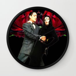 Gomez and Morticia Thorny Heart Wall Clock