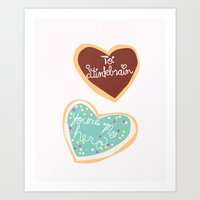 wreck it ralph Art Prints featuring wreck it ralph... you're my hero cookie by studiomarshallarts