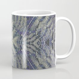 SYMMETRICAL PASTEL PURPLE BRACKEN FERN MANDALA Coffee Mug