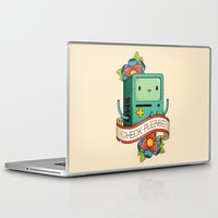 bmo Laptop & iPad Skins featuring BMO | CHECK PLEASE by Daniel Mackey