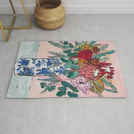 Australian Native Bouquet of Flowers after Matisse Rug