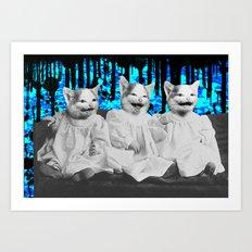 Triple Trouble Art Print