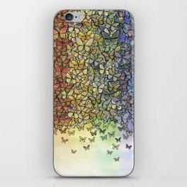 rainbow of butterflies aflutter iPhone Skin
