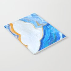 Blue and gold agate Notebook