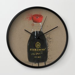 Diddie Doodle the Soy Sauce Wall Clock