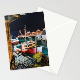 Peggy's Cove by Night Stationery Cards