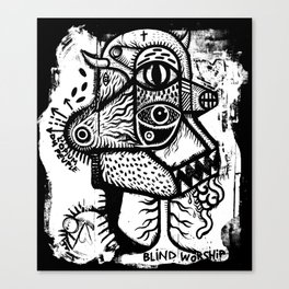 Blind worship - the print Canvas Print