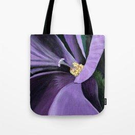 Purple Flower at Midnight Tote Bag