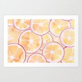 Tangerine Ring Party! Art Print