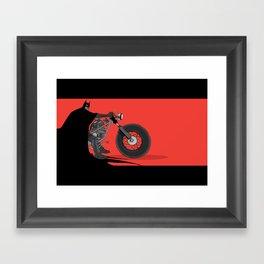 bat bike  Framed Art Print