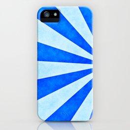 Blue sunburst iPhone Case