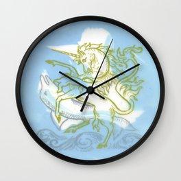 Unicorn Fucking a Dolphin Wall Clock