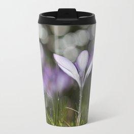 Blue Spring Flower  Crocus - Floral Travel Mug