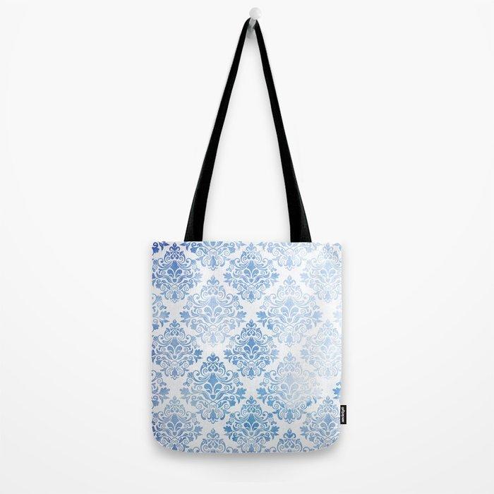 Blue Watercolor Pattern 04 Tote Bag